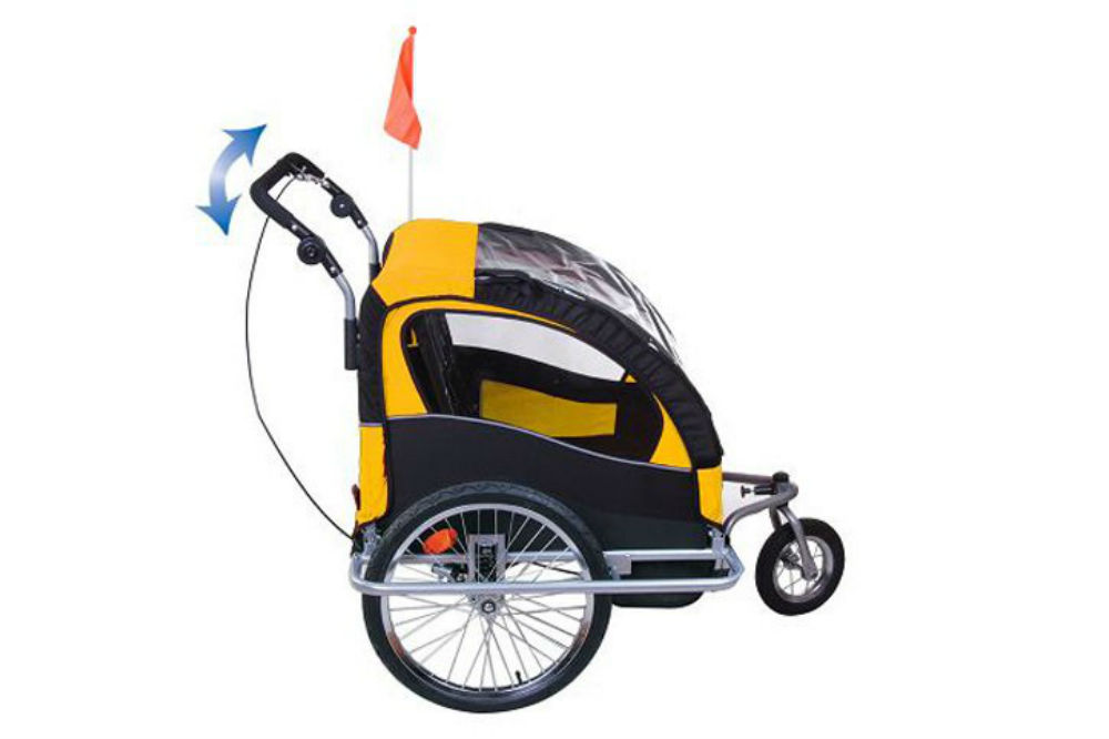 Aosom Elite II 3in1 Double Child Bike Trailer Review